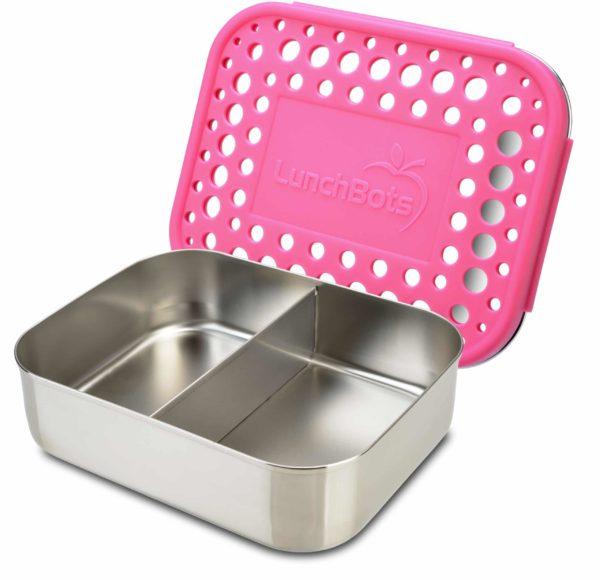 Lunchbot-Duo-pink-Edelstahl-Vorratsdose-1