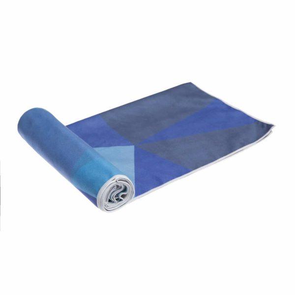 YDL Handtuch Geo Blue eingerollt