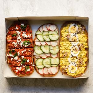 Seminarplatte Brot Box vegetarisch
