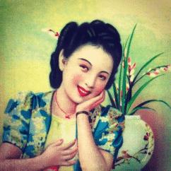 Achselkuss Gemäldegrafik Frauenportrait