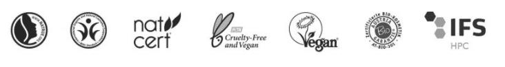 Alpine Organics - Naturkosmetik Zertifizierungen Logos
