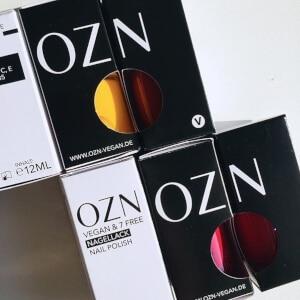 OZN - Naturkosmetik - Vegane Nagellacke in Karton verpackt
